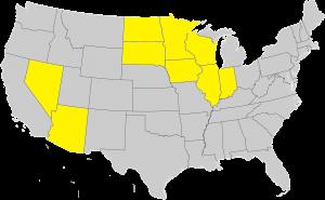 States licensed in