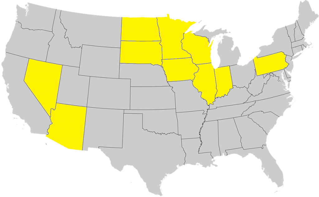 States licensed in